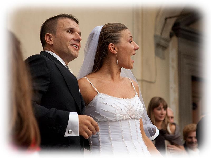 Federica e Giacomo si sono sposati nella Collegiata a Figline Valdarno