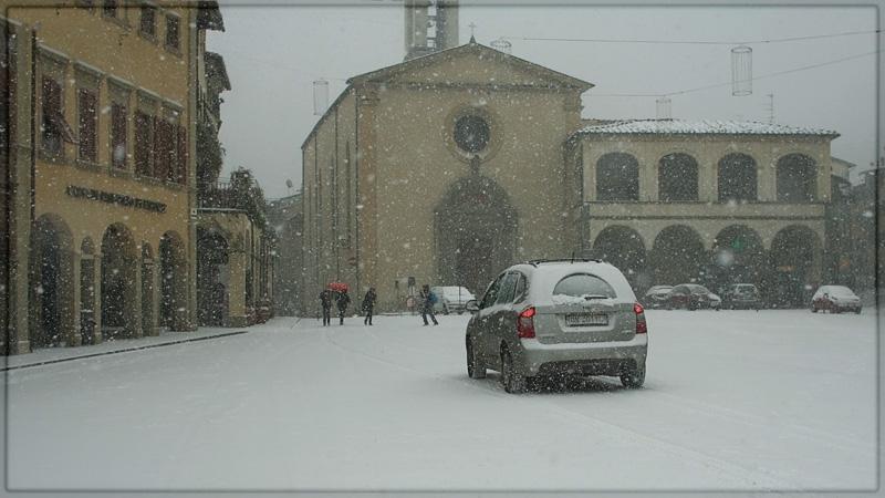bufera di neve a Figline Valdarno